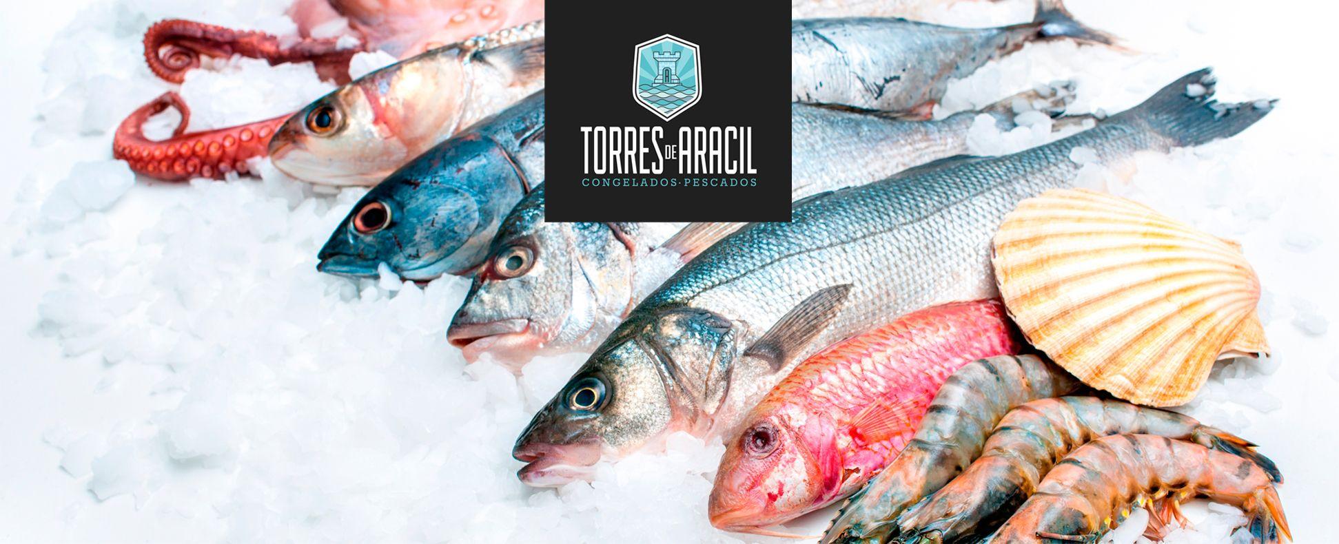 pescados mariscos congelados alimentacion